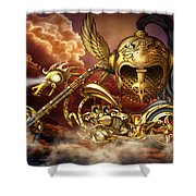 Iron Dragon Shower Curtain