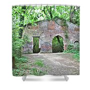 Iron Foundry Ruins Shower Curtain