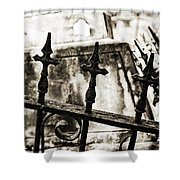 Iron Guard - Sepia Toned Shower Curtain