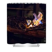Iron In Fire Oiltreatment Shower Curtain