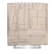 Iron Lighthouse Shower Curtain
