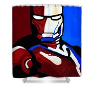 Iron Man 2 Shower Curtain by Barbara McMahon