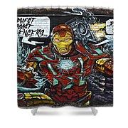 Iron Man Graffiti Shower Curtain