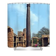 Iron Pillar Of Qutb Shower Curtain