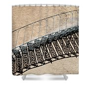 Iron Stairs Shadow Shower Curtain