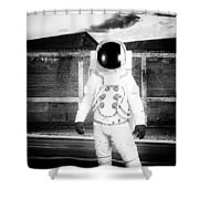 The Astronaut Homecoming Shower Curtain