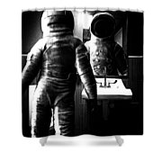 The Astronaut And The Bathroom Shower Curtain