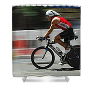 Ironman Flying Shower Curtain
