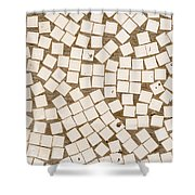 Irregular Mosaic Texture Shower Curtain