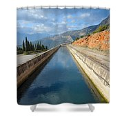 Irrigation Canal Shower Curtain