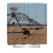 Irrigation Convergence Shower Curtain