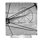 Irrigation Pipe In Winter Shower Curtain