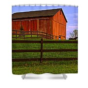 Is Every Barn Red Shower Curtain