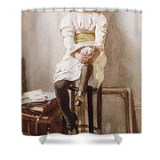 Is It Time Shower Curtain by John Henry Henshall