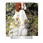 Is She Not Pure Gold My Mistress Shower Curtain by Eleanor Fortescue Brickdale