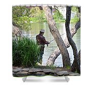 Is The Fisherman Real? Shower Curtain