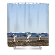 Is There Something Out There Shower Curtain