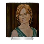 Isabelle Huppert Painting Shower Curtain