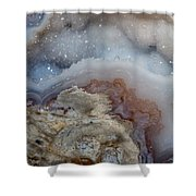 Iside A Geode Shower Curtain