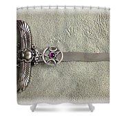 Isis And Moon Symbol Athame Shower Curtain
