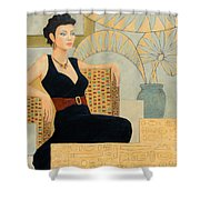 Isis Shower Curtain by Don Perino