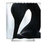 Isis Sculpture Back Horizontal Shower Curtain