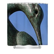 Isis Sculpture Front Shower Curtain