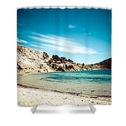 Isla Del Sol On The Titicaca Lake Shower Curtain
