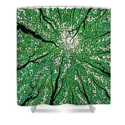 Isla In The Sky With Diamonds Shower Curtain