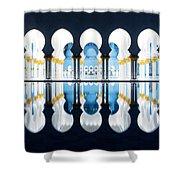 Islamic Architecture Of Abu Dhabi Grand Mosque - Uae Shower Curtain