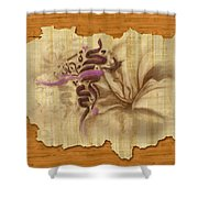 Islamic Calligraphy 031 Shower Curtain by Catf