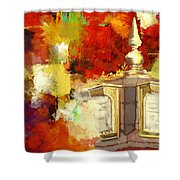 Islamic Painting 003 Shower Curtain by Catf