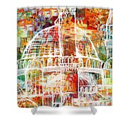 Islamic Painting 005 Shower Curtain by Catf