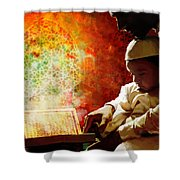 Islamic Painting 011 Shower Curtain by Catf