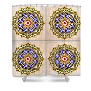 Islamic Tiles 03 Shower Curtain