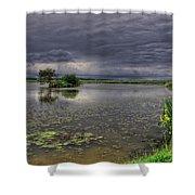 Island And Flowers Shower Curtain