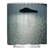 Lugu Lake Island And Ripples China Shower Curtain