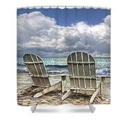 Island Attitude Shower Curtain by Debra and Dave Vanderlaan