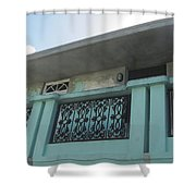 Island Balcony Close Up Shower Curtain