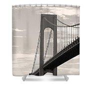 Island Bridge Bw Shower Curtain