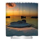 Island Burgs Shower Curtain