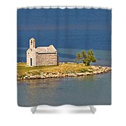 Island Church By The Sea Shower Curtain by Brch Photography