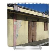 Island Decay Building Shower Curtain
