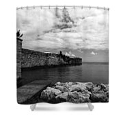 Island Fortress  Shower Curtain