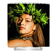 Island Girl 2 Shower Curtain