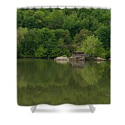 Island House On New River - West Virginia Shower Curtain