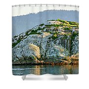 Island In A Lake, Glacier Bay National Shower Curtain