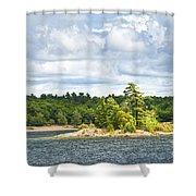 Island In Georgian Bay Shower Curtain