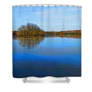 Island In The Pond Shower Curtain