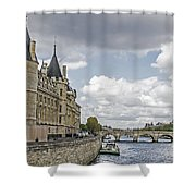 Island In The Seine Shower Curtain